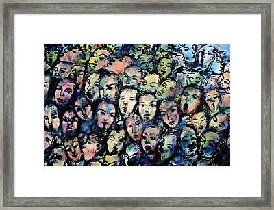 Berlin Wall Graffiti  Framed Print by Anthony Dezenzio