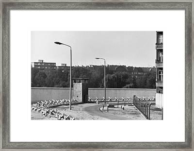 Berlin Wall, C. 1980 Framed Print