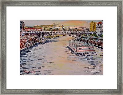 Berlin  Watching The Ships Go By... Framed Print by Alfred Motzer