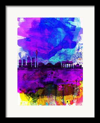 Berlin Germany Digital Art Framed Prints