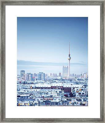 Berlin Winter Cityscape Framed Print by Spreephoto.de