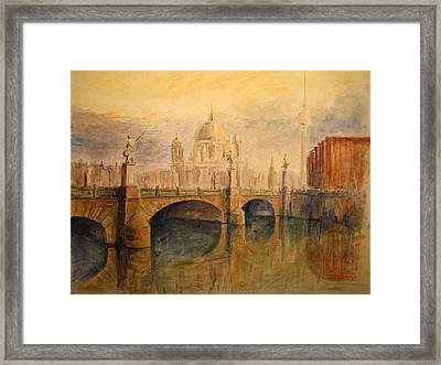 Berliner Dom Framed Print by Juan  Bosco