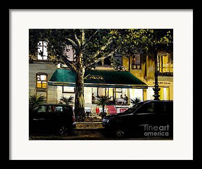 Kurfurstendamm Cafe Paintings Framed Prints