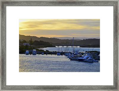 Bermagui River Sunset Framed Print