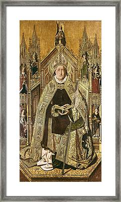 Bermejo, Bartolom� 1420-1498. Saint Framed Print by Everett