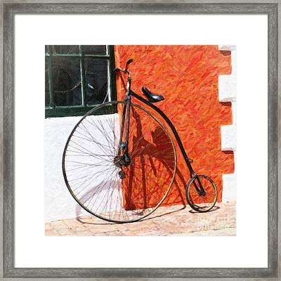 Framed Print featuring the photograph Bermuda Antique Bicycle by Verena Matthew
