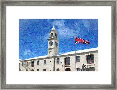 Framed Print featuring the photograph Bermuda Clocktower by Verena Matthew