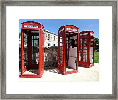 Bermuda Phone Boxes 2 Framed Print