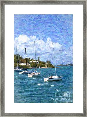 Framed Print featuring the photograph Bermuda Sailboats by Verena Matthew