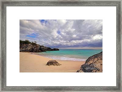 Bermuda Secret Beach Framed Print by Charline Xia
