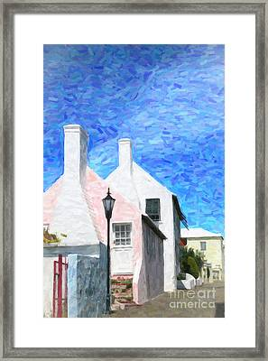Framed Print featuring the photograph Bermuda Side Street by Verena Matthew