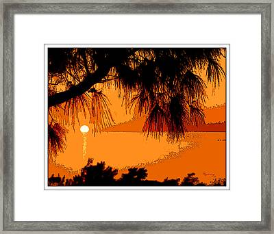 Framed Print featuring the photograph Bermuda Sunset by Mariarosa Rockefeller