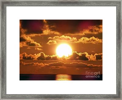Bermuda Sunset Framed Print