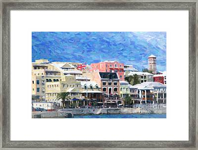 Framed Print featuring the photograph Bermuda Waterfront by Verena Matthew