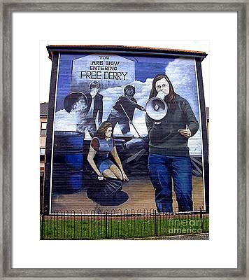 Bernadette Devlin Mural Framed Print