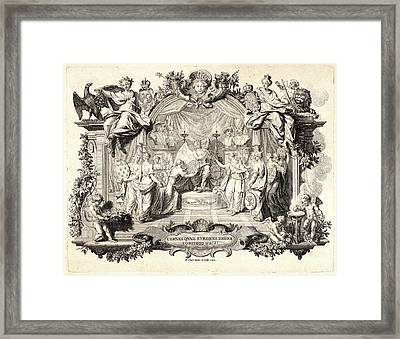 Bernard Picart French, 1673 - 1733. Cernes Quae Surgere Framed Print by Litz Collection