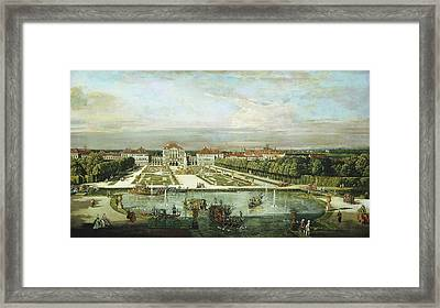 Bernardo Bellotto And Workshop, Nymphenburg Palace Framed Print by Litz Collection