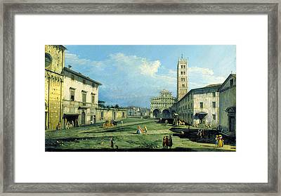 The Piazza San Martino Lucca Framed Print by MotionAge Designs