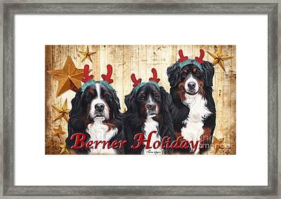 Berner Holiday Framed Print