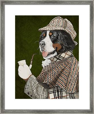 Berner Of The Baskerville Framed Print