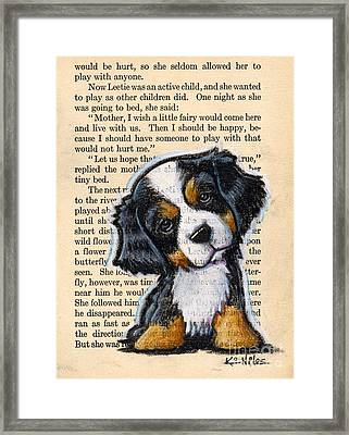 Bernese Mountain Dog Puppy Framed Print by Kim Niles