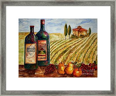 Bernhardt And Retreat Hill Winery Framed Print by Tamyra Crossley