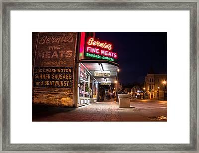 Bernies Fine Meats Signage Framed Print