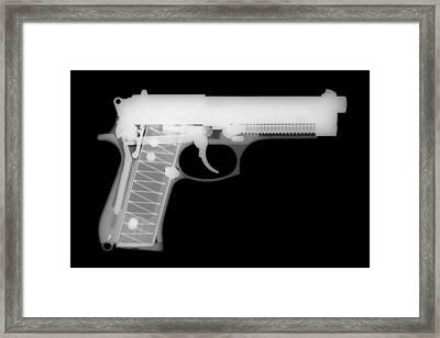 Berretta 9mm Framed Print by Ray Gunz