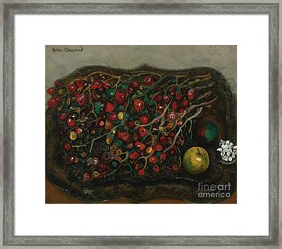 Berries And Apples Framed Print by Celestial Images