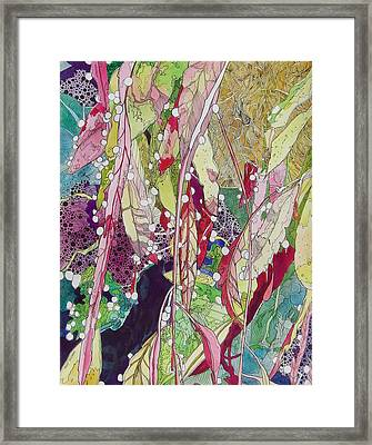 Berries And Cactus Framed Print