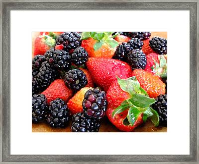 Berries Framed Print by Scott Kingery