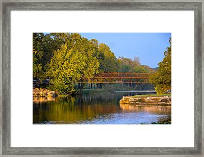 Berry Creek Bridge Framed Print by John Johnson