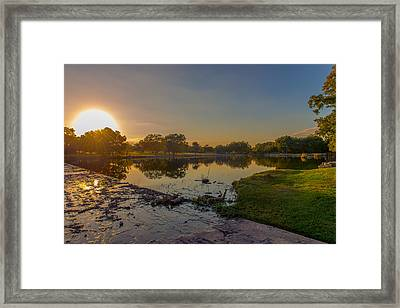 Berry Creek Sun Set Framed Print by John Johnson
