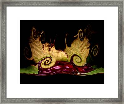 Berry Curly Framed Print by Karen Scovill