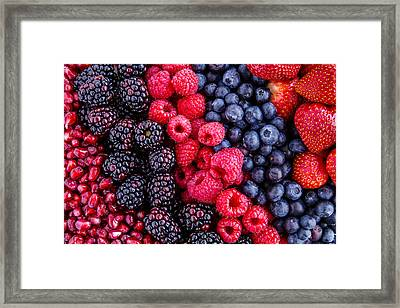 Berry Delicious Framed Print by Teri Virbickis