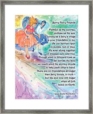 Berry Fairy Friends Poem Framed Print
