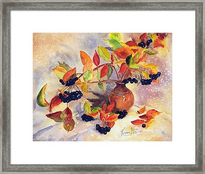 Berry Harvest Still Life Framed Print by Karen Mattson
