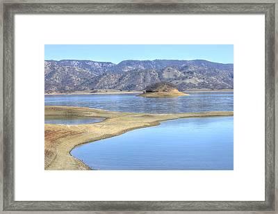 Berryessa Lake Framed Print by Diego Re