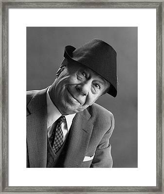 Bert Lahr In A Felt Cap Framed Print by Leonard Nones