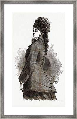 Bertha Confection, 19th Century Fashion, Dress Framed Print