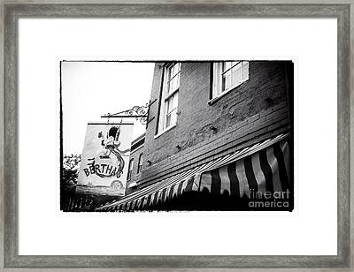 Bertha's Framed Print