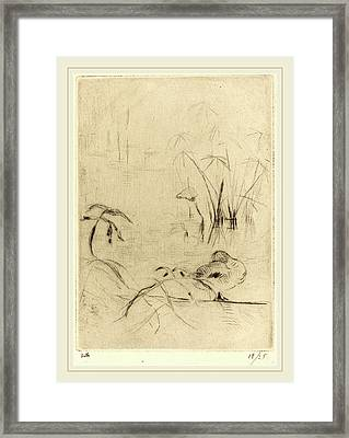 Berthe Morisot French, 1841-1895, Ducks At Rest On The Bank Framed Print by Litz Collection