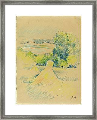 Berthe Morisot, French 1841-1895, Landscape Framed Print by Litz Collection