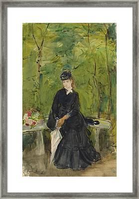 Berthe Morisot French, 1841 - 1895, The Artists Sister Edma Framed Print by Quint Lox
