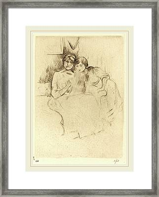 Berthe Morisot French, 1841-1895, The Drawing Lesson Framed Print by Litz Collection