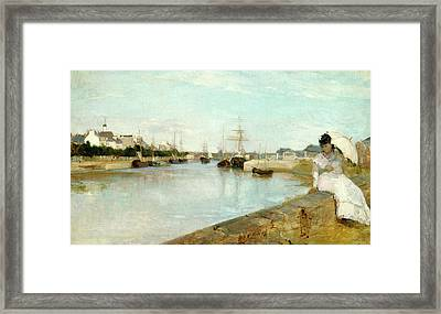 Berthe Morisot, The Harbor At Lorient, French Framed Print by Litz Collection