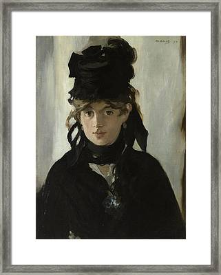 Berthe Morisot With A Bouquet Of Violets Framed Print
