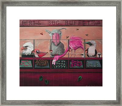Bert's Bug Buffet Edit 2 Framed Print by Leah Saulnier The Painting Maniac
