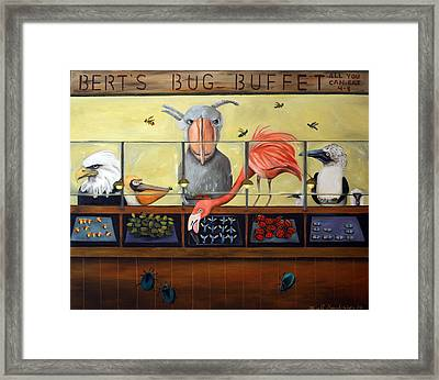 Bert's Bug Buffet Framed Print by Leah Saulnier The Painting Maniac