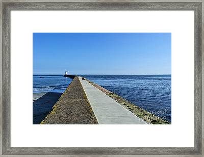 Berwick Pier And Lighthouse Framed Print